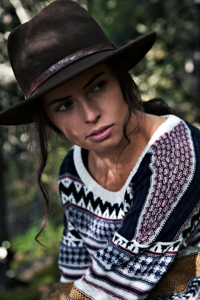 Outdoor lifestyle photography knitted fashion