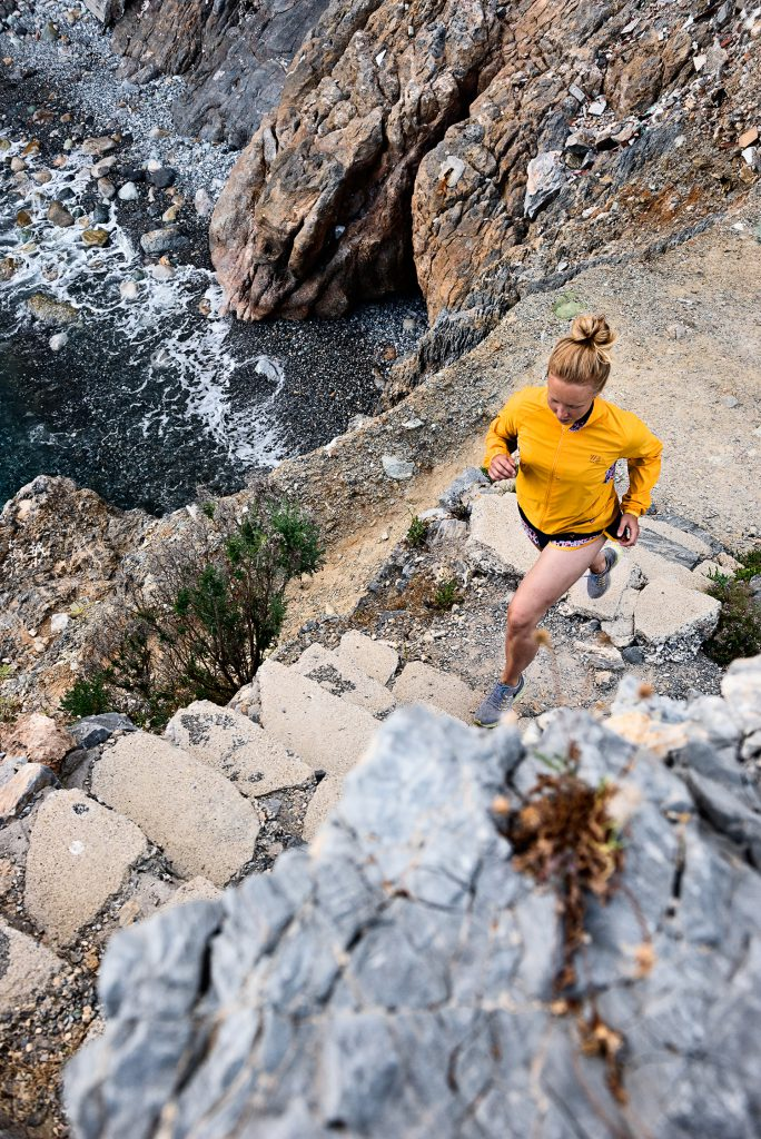Outdoor lifestyle photography running apparel yellow