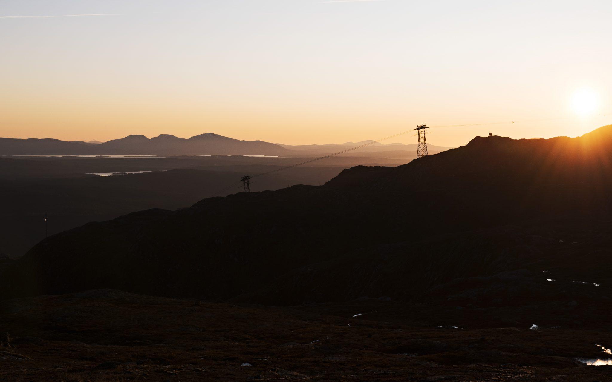 Landscape photo of sunset in Åre